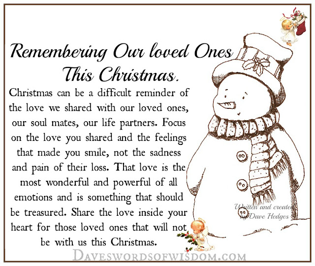 Remembering Loved Ones This Christmas.