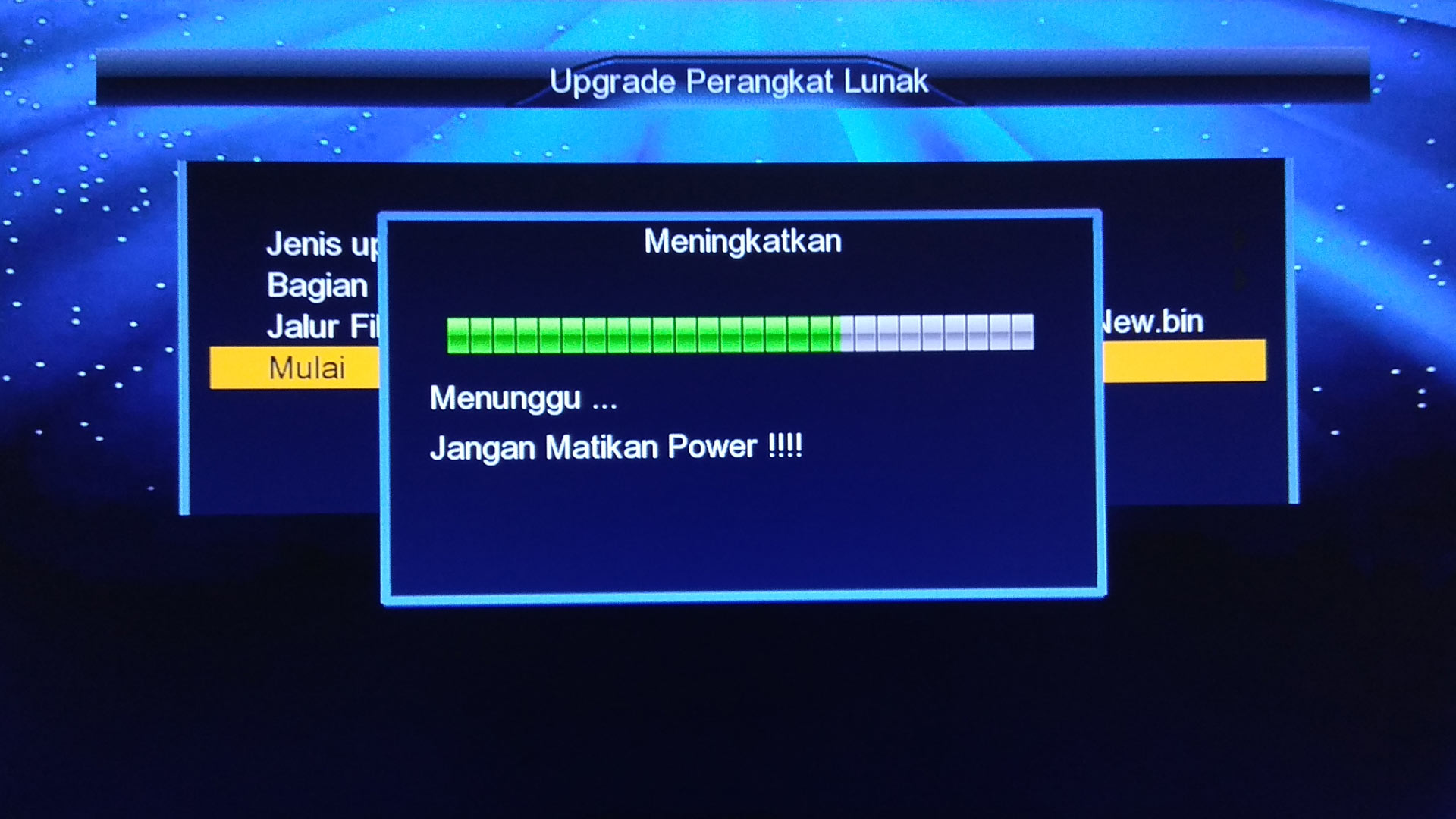 Cara Upgrade Receiver Optus HD Firmware Terbaru