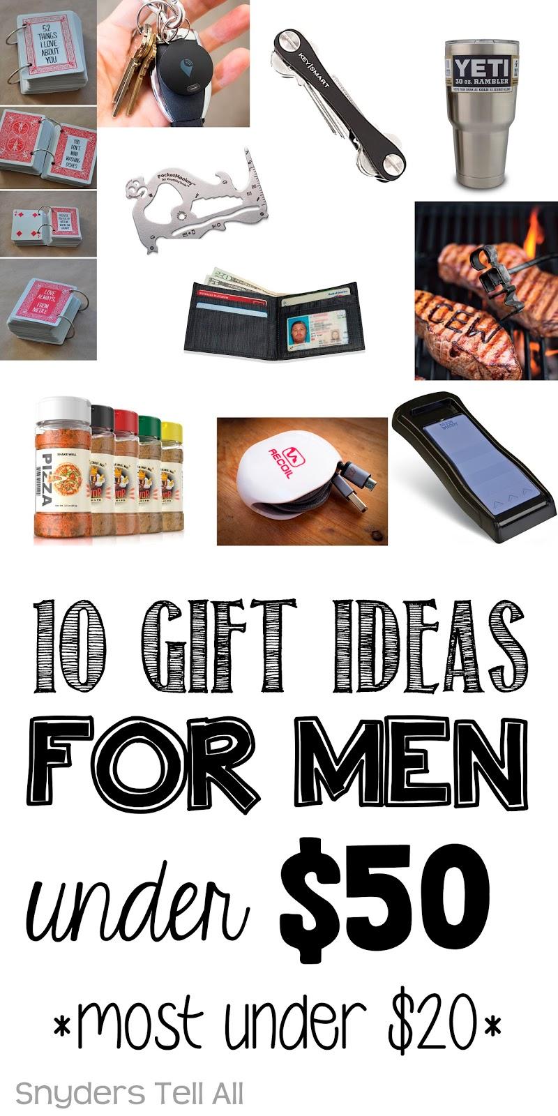 10 Gift Ideas for MEN under $50 - Joyfully Prudent