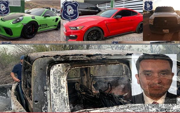 Comandante que hizo decomiso de coches de lujo Lamborghini, Porsche y Mustang 14 días después es ejecutado y calcinado en venganza