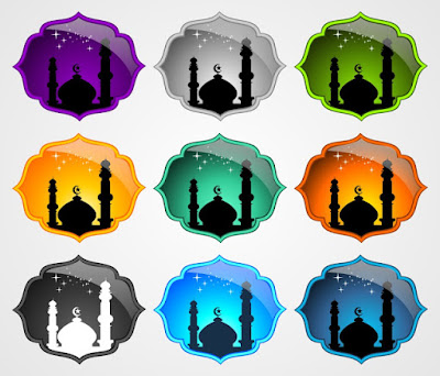Kumpulan Vektor Icon Siluet Masjid format CDR