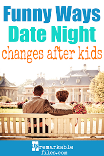 There are lots of differences between life with kids vs without. This mom does a funny look at how your marriage changes. Date night means something completely different when you have kids than when you don't! #funny #parentinghumor #momlife #marriage