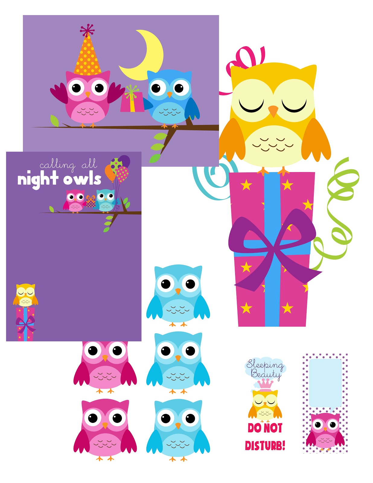 My Cotton Creations Sleepover Party Printables