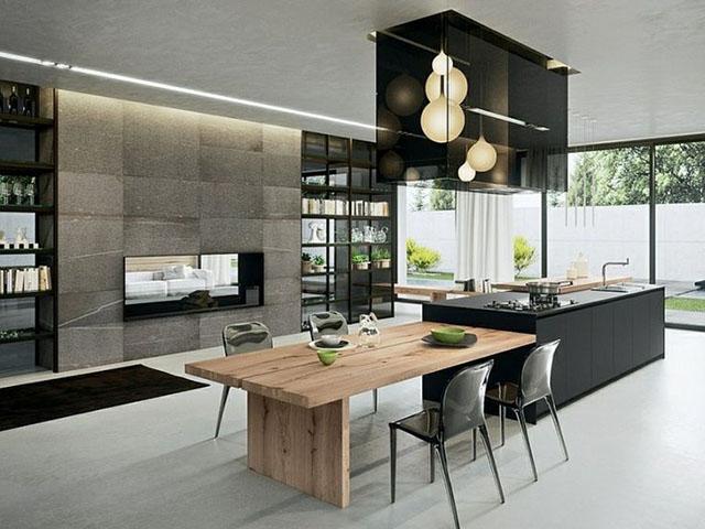 mẫu thiết kế phòng bếp ăn