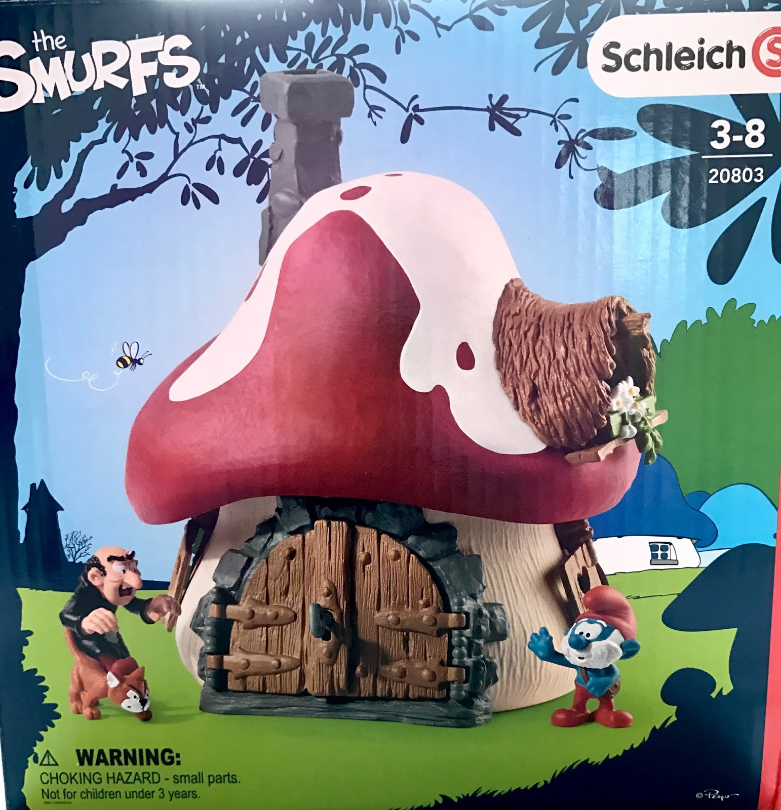 Mummy's Space: Schleich Smurf House with Papa Smurf and ...