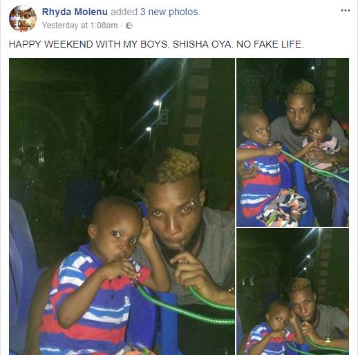 Nigerian man shares photo of himself