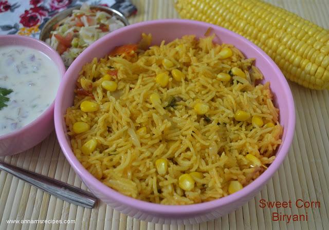 Sweet Corn Biryani