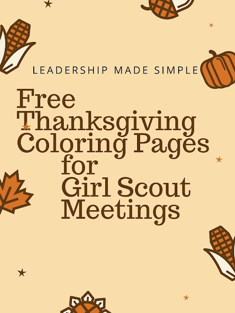 Free Thanksgiving Coloring Pages for Girl Scouts