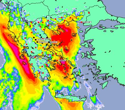 4 - Συννεφιές και βροχές την Δευτέρα και Τετάρτη σε μεγάλο μέρος της χώρας (+XAΡΤΕΣ ΥΕΤΟΥ)