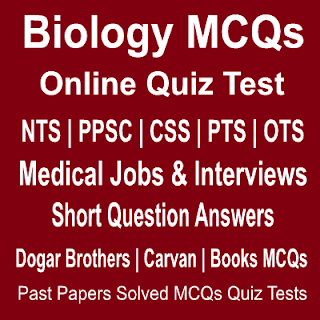Online quiz tests of Biology with solved MCQs Answers