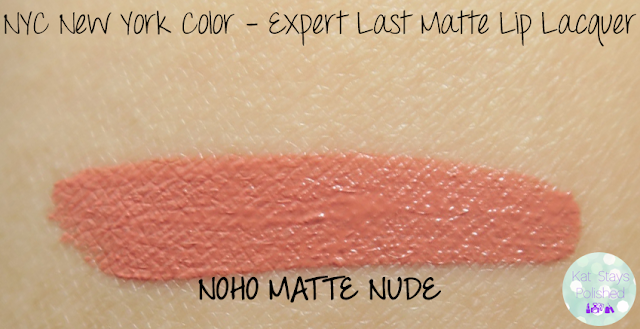 NYC New York Color Expert Last Matte Lip Lacquer - Noho Matte Nude | Kat Stays Polished