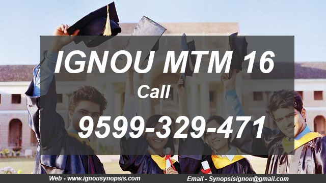 IGNOU MTM Project Synopsis