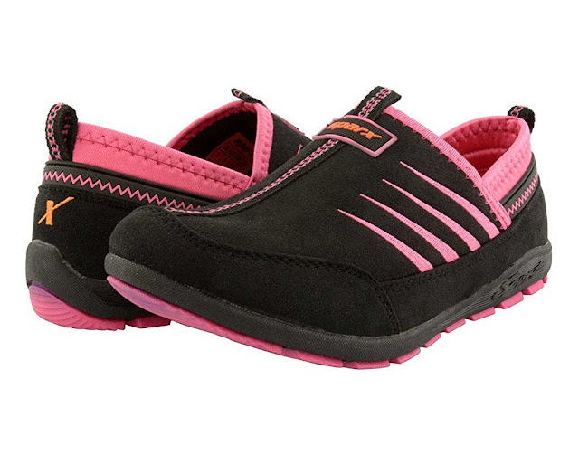 Sparx Suede Black Pink Running Shoes For Women