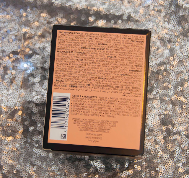 Skład perfum Lancome Tresor, opakowanie, kartonik
