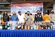 Jelang Akhir Tahun, Polres Loteng Gelar Press Release