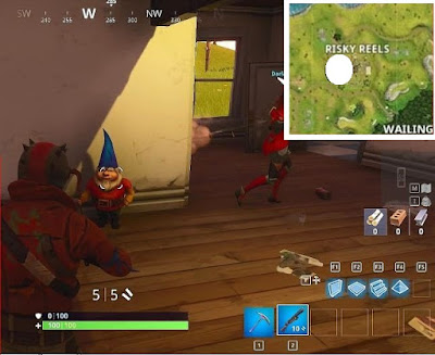 Fortnite, Battle Royale, Hungry Gnomes, Locations Guide, Risky Reels