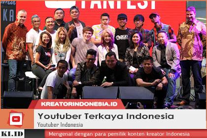 15 Youtuber Indonesia dengan Penghasilan Terbesar