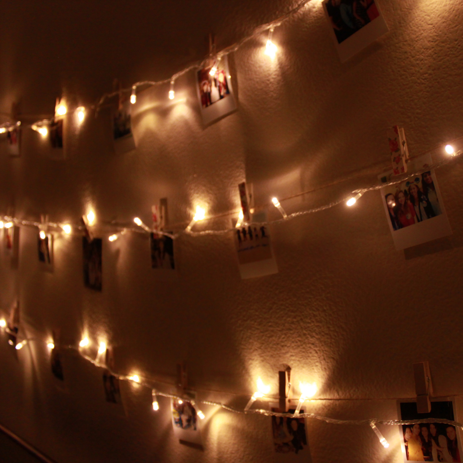 Diy Polaroid Wall With String Lights Simple Stylings