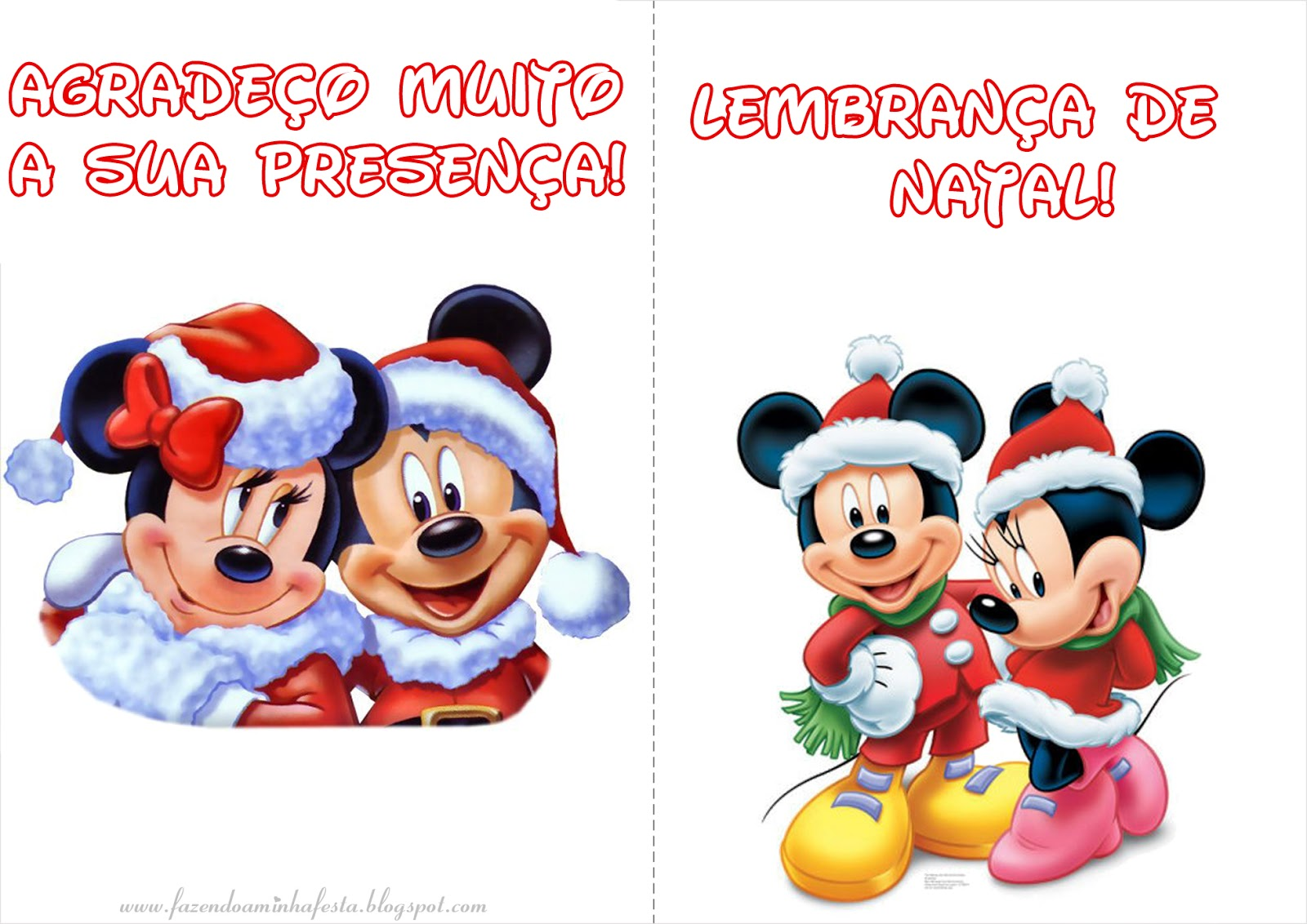 Colorir: Mickey E Minnie Natal