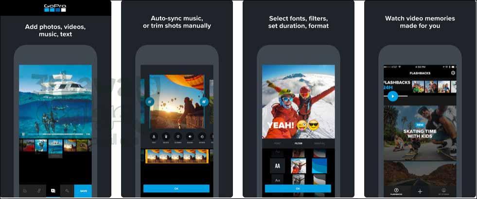 التطبيق الاول: Quik - GoPro Video Editor