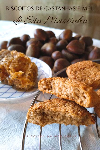 Biscoitos de castanhas e mel de São Martinho