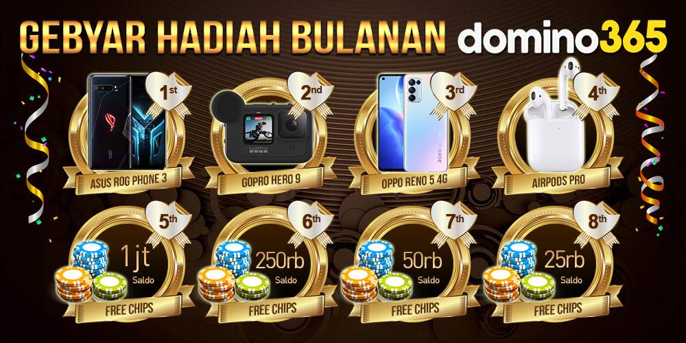 Gebyar Hadiah Bulanan DOMINO365