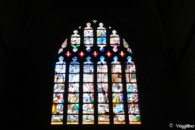 Le splendide finestre della Collegiata di Saint Aubin di Guérande