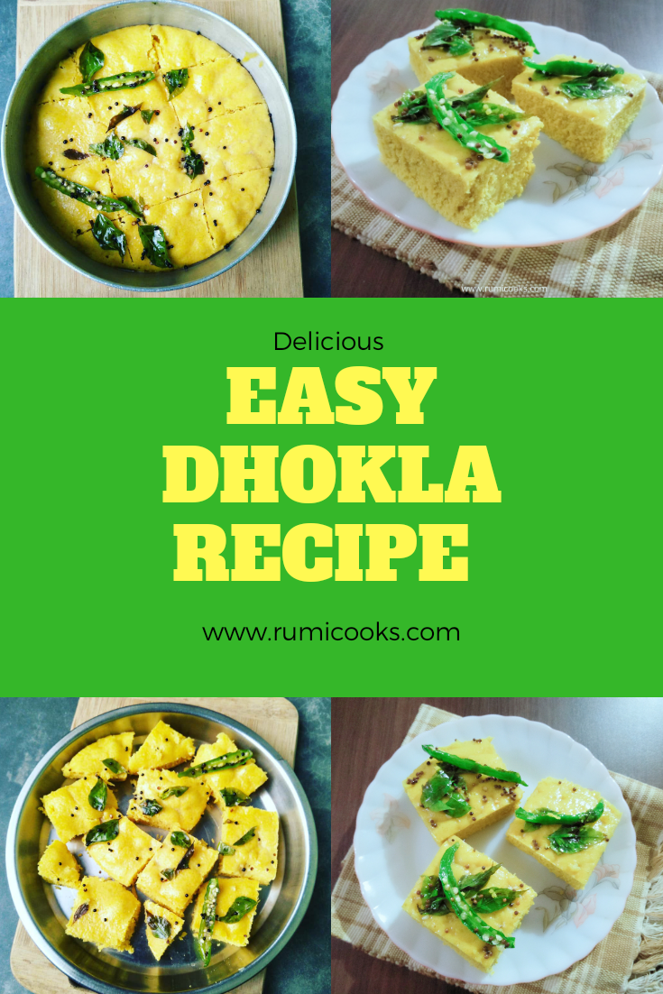 Make easy dhokla at home and serve as a snack with green chutney.
