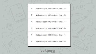 kumpulan aplikasi raport siap cetak