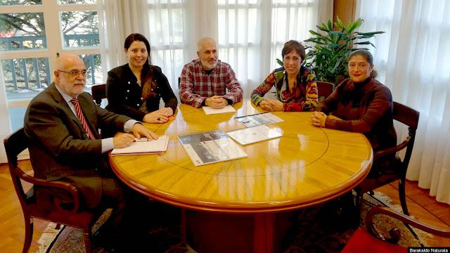 reunión de Barakaldo Naturala con el delegado del Gobierno, Jesús Loza