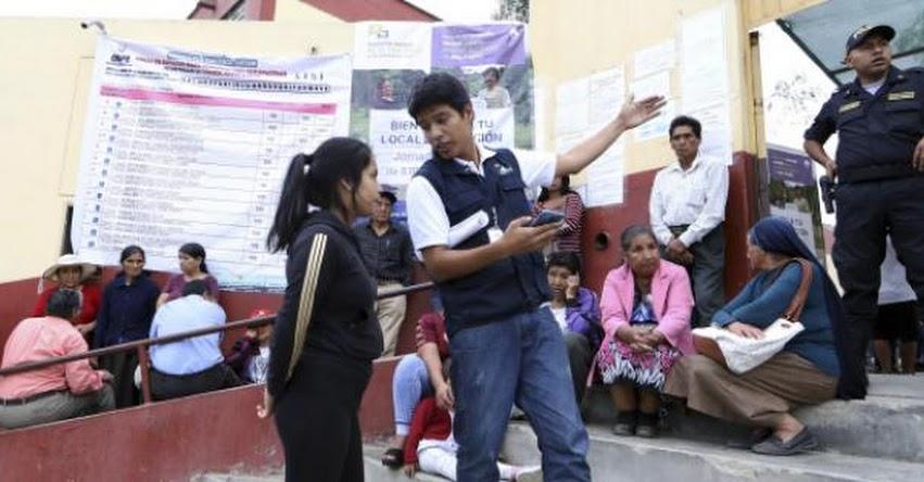ONPE insta a instituciones públicas y privadas a sumarse a la campaña para lograr triplicar locales de votación