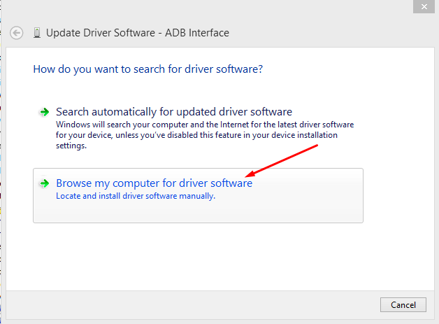 Update Driver ADB interface
