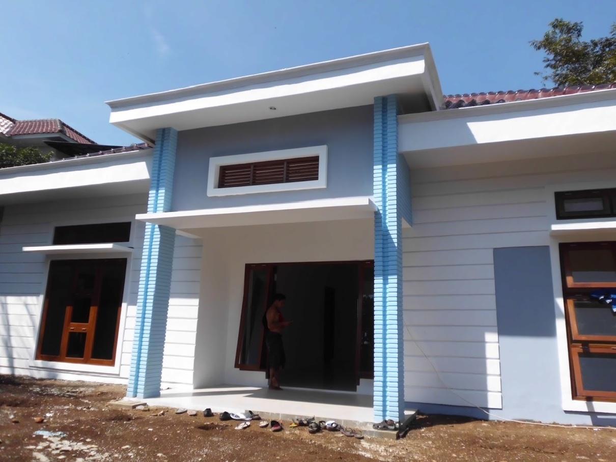 Hasil proyek Bangun Baru rumah 1 Lantai milik Bpk Vito Laode Pado di Periumahan Bogor Nirwana Residence (BNR) , Bogor, Tahun 2012