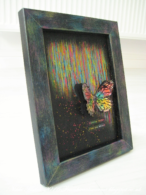 Addicted to Art - Tim Holtz Butterfly Duo - Painted frame