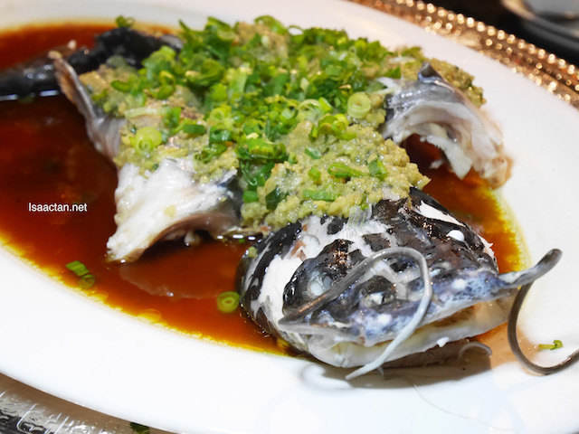 Steamed White Cat Fish with Minced Ginger