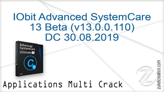IObit Advanced SystemCare 13 Beta (v13.0.0.110) DC 30.08.2019