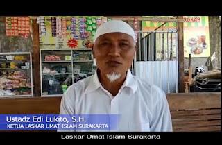 Video Ketua Laskar Umat Islam Surakarta Ajak Semua Ormas Ciptakan Kondisi Aman dan Damai