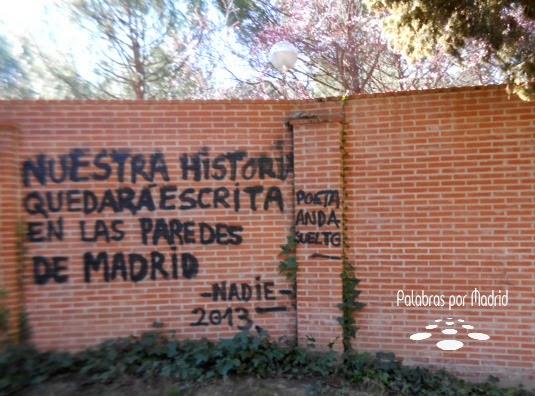 en los muros de madrid
