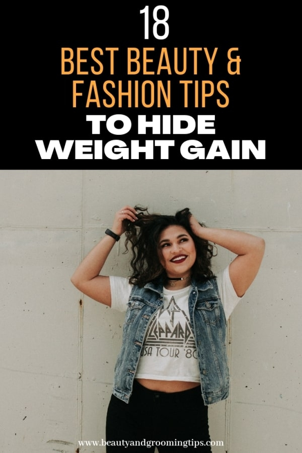 Best Beauty and Fashion Tips to Hide Weight Gain - pic of woman who has gained extra weight standing
