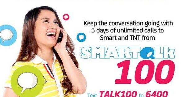Smart Talk 100 Promo Offers 5 Days Unli Call To Smart And
