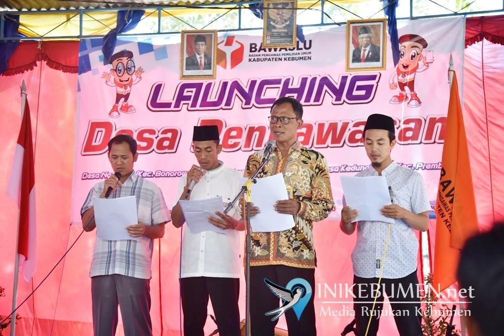 Jelang Pilbup Kebumen, Bawaslu Kebumen Launching Desa Anti Politik Uang