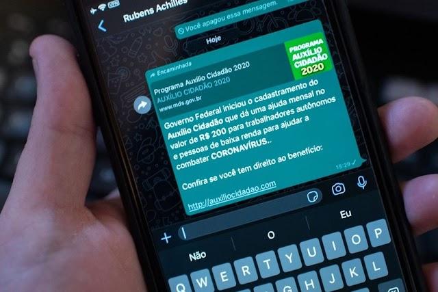 'Auxílio coronavírus' e outros golpes no WhatsApp atingem 2 milhões