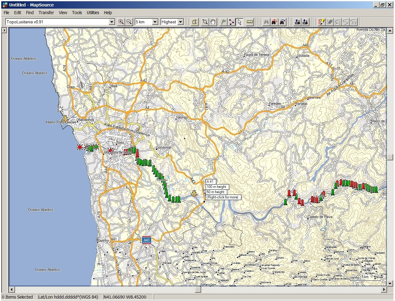 circular regional exterior do porto mapa TopoLusitania   Mapa Topográfico de Portugal para GPS em formato  circular regional exterior do porto mapa