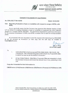 finalization-of-plan-on-modalities-with-respect-to-merger-of-mtnl-with-bsnl.