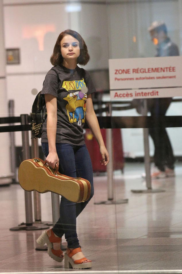 Joey King At Montreal Airport