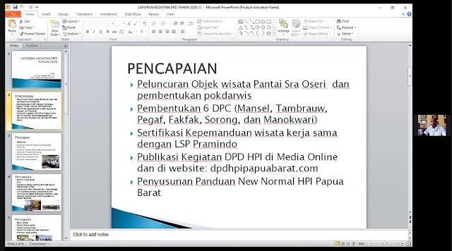 Laporan Kegiatan DPD HPI Papua Barat