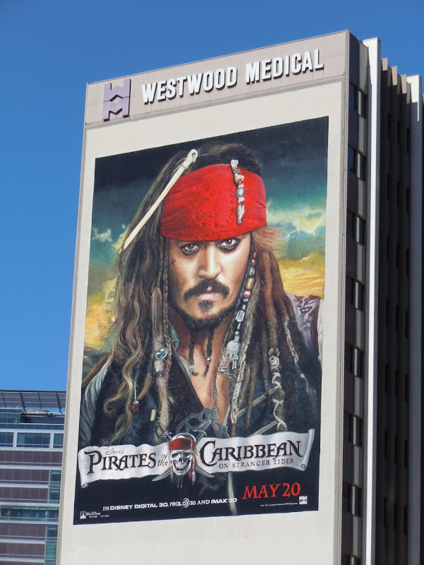 Johnny Depp Captain Jack Sparrow billboard