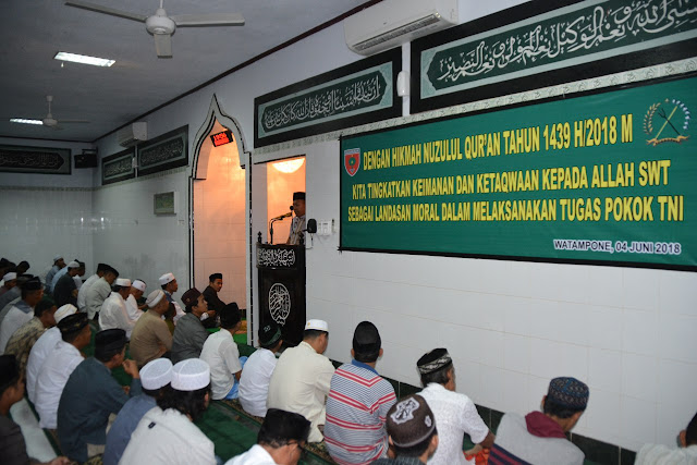Danrem 141/Tp Harap, Nuzulul Qur'an Jadi Landasan Moral Anggotanya Melaksanakan Tugas Pokok