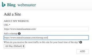 Add URL Add Sitemap