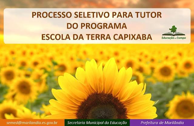 Concurso Público, Marilândia, Programa Escola da Terra Capixaba